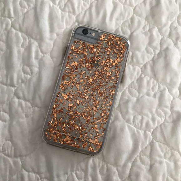 CaseMate rose gold flakes iPhone 6/7 phonecase